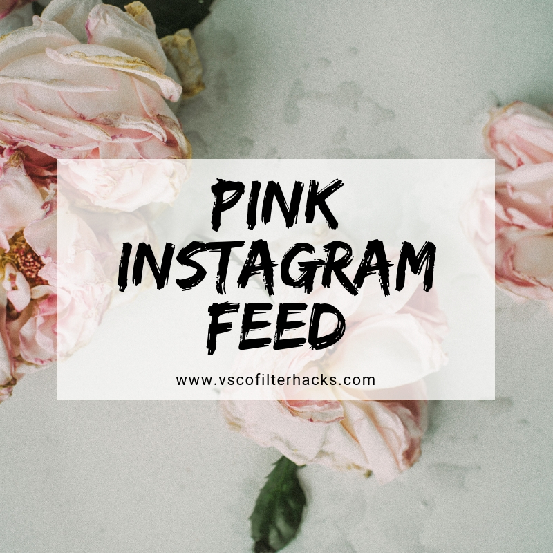 Pink VSCO Filters