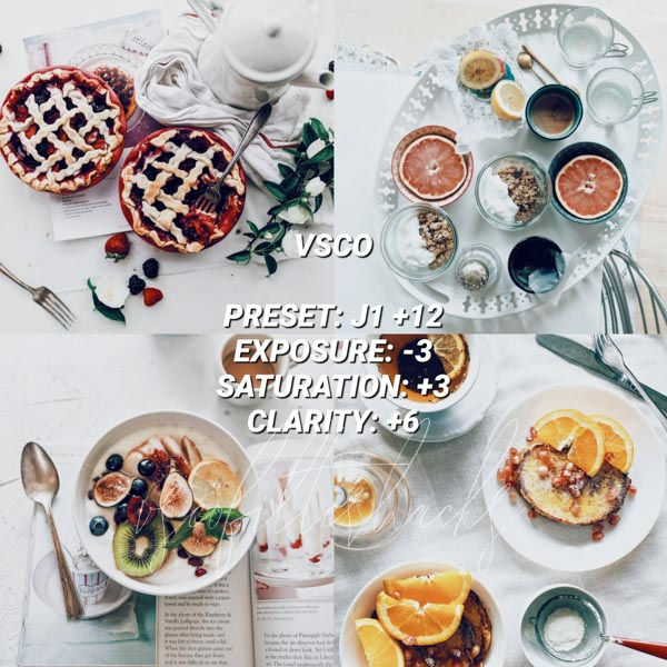 vsco filters for food 11