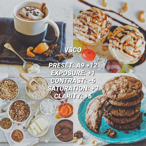 vsco filters for food 12