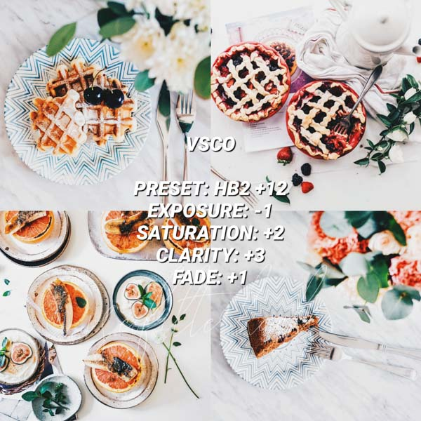 vsco filters for food 13