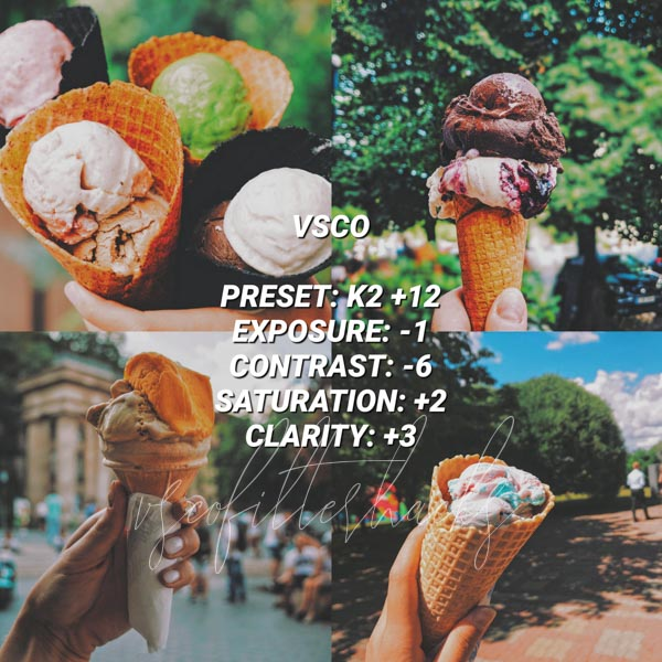 vsco filters for food 14