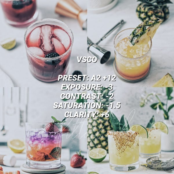 vsco filters for food 2