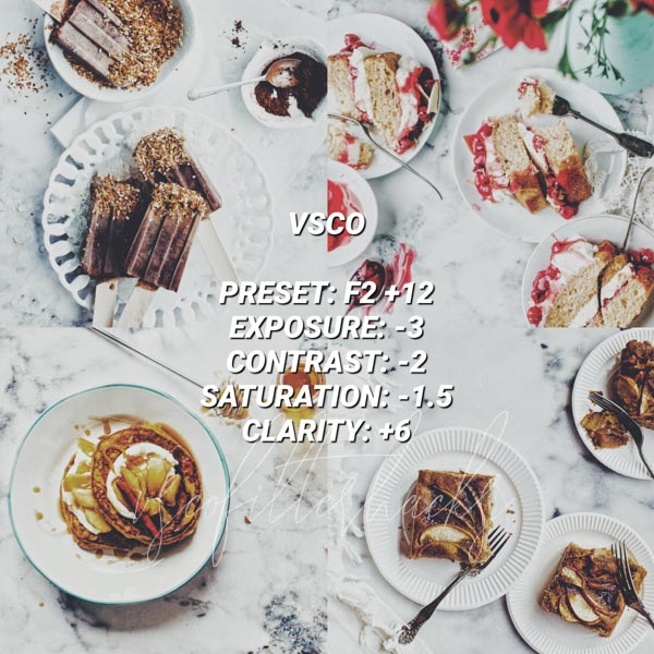 vsco filters for food 4