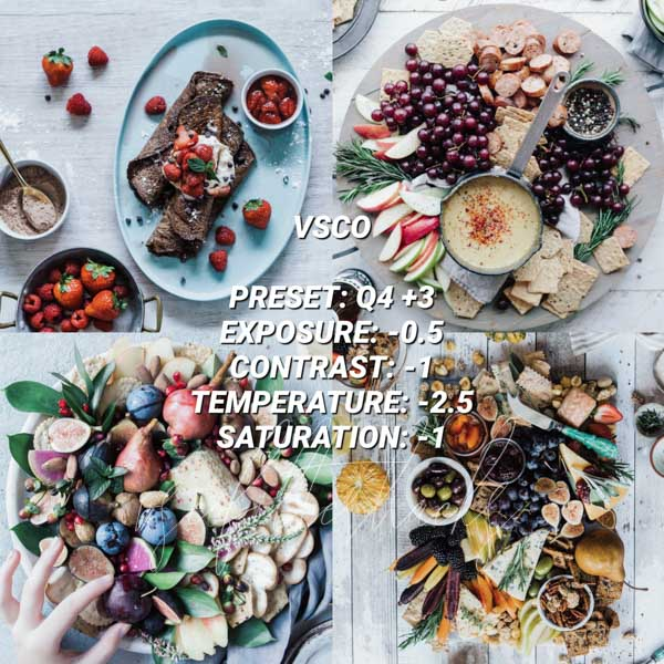 vsco filters for food 8