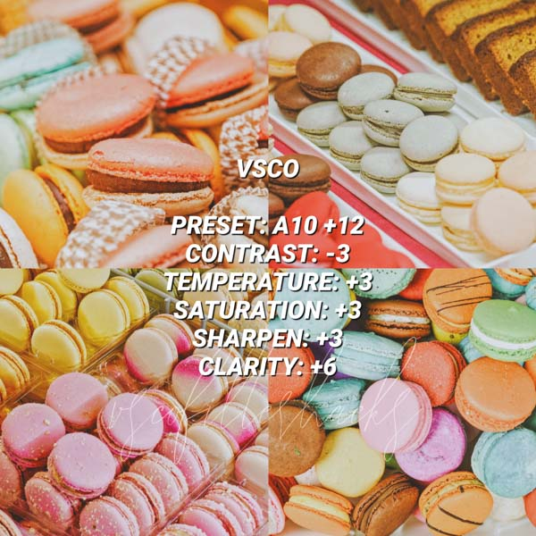 vsco filters for food 9